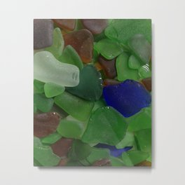 Sea Glass Metal Print