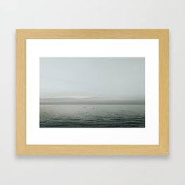 Skimming the Surface Framed Art Print