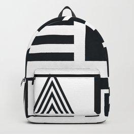 Geometric Adventure B&W Backpack