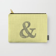 Yellow Ampersand Carry-All Pouch