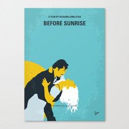 No1011 My Before Sunrise minimal movie poster Canvas Print