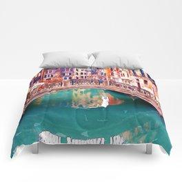 Small Bridge in Venice Comforters