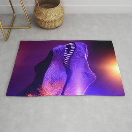 T-Rex Disco King Red & Purple Lights Rug