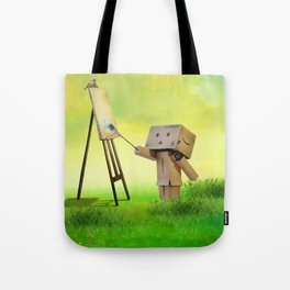 Danbo the artist Tote Bag