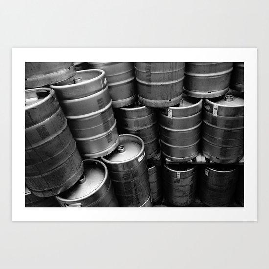 Kegs. Art Print