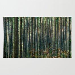 Forrest thru the trees Rug