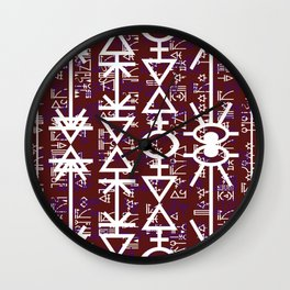 Love Rune-Burgandy Wall Clock