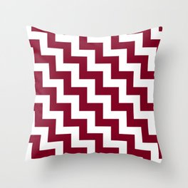 White and Burgundy Red Steps LTR Throw Pillow