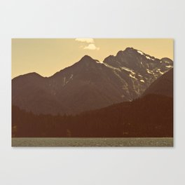 The warmth of Diablo Lake Canvas Print