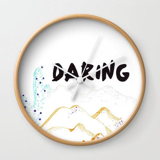 Daring. Wall Clock