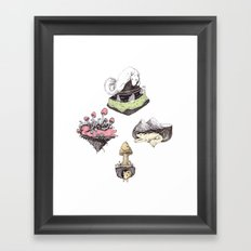dog averywhere Framed Art Print
