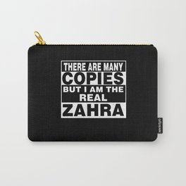 I Am Zahra Funny Personal Personalized Gift Carry-All Pouch
