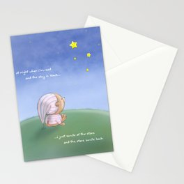 At Night When I'm Sad..... Stationery Cards