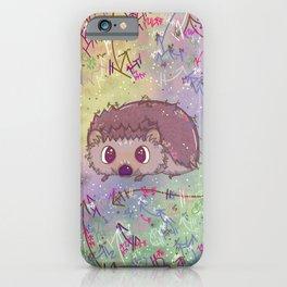 Happiest Little Hedgehog iPhone Case