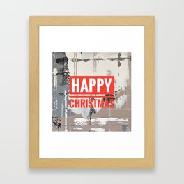 Snowfall - Happy Christmas Framed Art Print