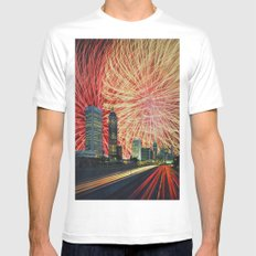 Fluctuations Spatio-Temporelles Non Négligeables White Mens Fitted Tee MEDIUM