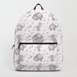 Pink Elephant Baby Girl Nursery Backpack