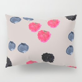 Watercolor Berries Pattern Pillow Sham