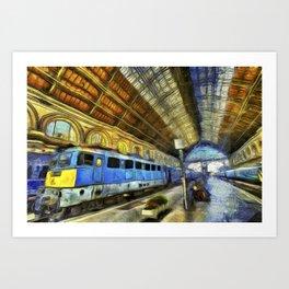 Vincent Van Gogh Railway Station Art Print