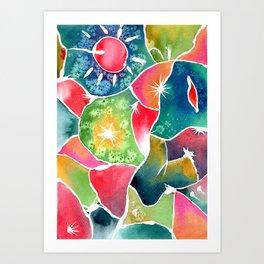 Magical World of Watercolor Art Print