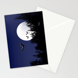 Bats in the Moonlight Stationery Cards