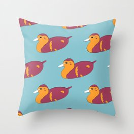 Duck Off! Throw Pillow