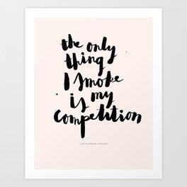 Sophia Amoruso #GIRLBOSS Quote (Pink) Art Print