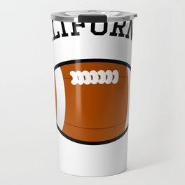 California American Football Design black lettering Travel Mug