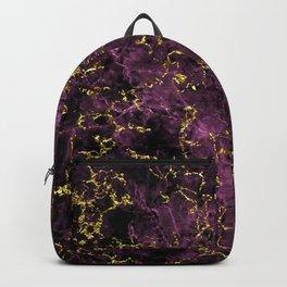 GOLD MAGENTA MARBLE Backpack