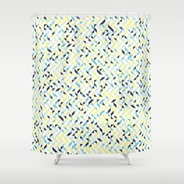 Lemon and Ink Shower Curtain