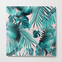 Tropical Jungle Leaves Dream #4 #tropical #decor #art #society6 Metal Print