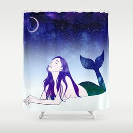 Starry Siren Shower Curtain