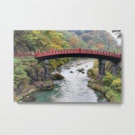 Red Bridge, Nikko, Japan. Metal Print
