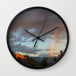 Sedona Rainbow Wall Clock