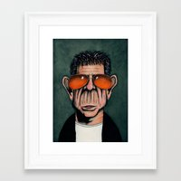 lou reed Framed Art Prints featuring Lou Reed by Andres Denkberg