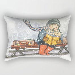 The Reader Rectangular Pillow
