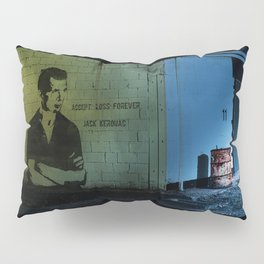 Jack Kerouac Quote On The Wall Pillow Sham