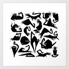 Catbutt Art Print