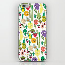 Fruit And Veggie Madness iPhone Skin