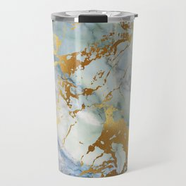 Lovely Marble with Gold Overlay Travel Mug