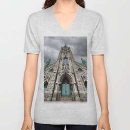 Faith and Architecture in Chicago Unisex V-Neck