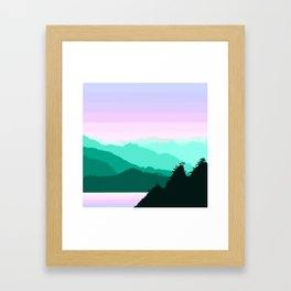 Mountain Landscape Framed Art Print