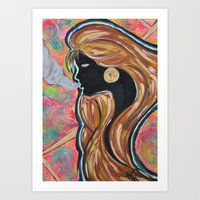 Fire Lady Art Print