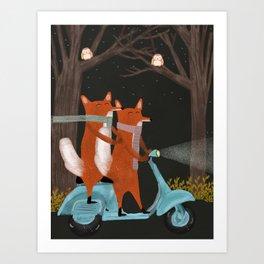 the fox mobile Art Print