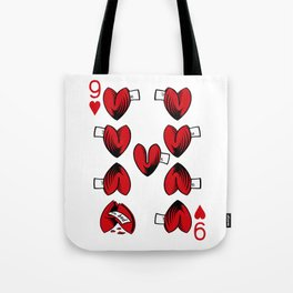 Delicious Deck: The Nine of Hearts Tote Bag