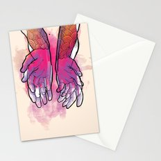 Dirty hands Stationery Cards