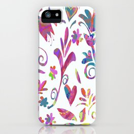 Fantasy Pink Flowers iPhone Case