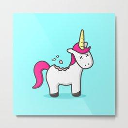 Unicorn Cookie Metal Print