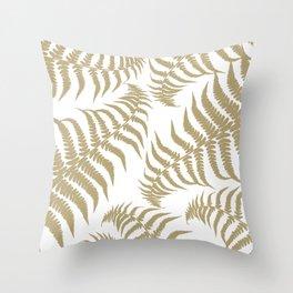 Fern Leaves Pattern - Golden Dream #2 #ornamental #decor #art #society6 Throw Pillow