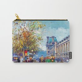 Along the Louvre, Paris, France by Antone Blanchard Carry-All Pouch